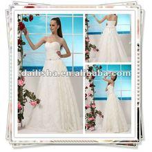F395 nouveau Style dentelle pleine longueur mode élégante 2013 Collections d'été robe de mariée