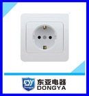 Wall socket European market with earth connect one way socket