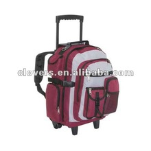 """17"""" good quality laptop backpack with trolley"""