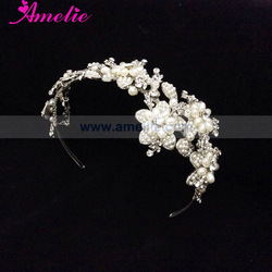 Wholesale Pearl & Crystal Bridal Headband bridal wedding Tiaras and crowns
