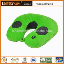 2015 newest hot selling fashional comfortable microbeads stuffed plush pillow neck music pillow