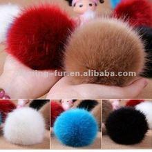 fur accesseries /fox fur ball/ fox fur pom poms