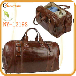 2014 best new fashion vintage classic retro leather travel bag for men
