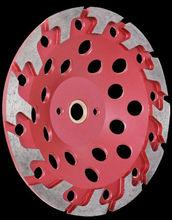 Diamond grinding cup wheel for concrete, brick, asphalt