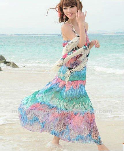 Colorful cheap maxi dress
