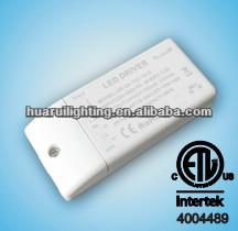 ETL/UL listed Dimmable 12V 24V led driver constant voltage 10w 26w 60w