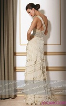 Dreamily tiered wedding and evening dress