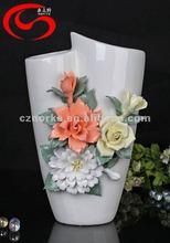 Free shipping Brief fashion crafts decoration housewarming gift rose ceramic vase
