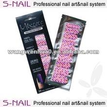 100% real nail polish sticker nail patch sticker wholesale
