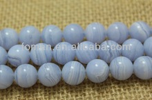 12mm round smooth blue lace agate natural mineral stone