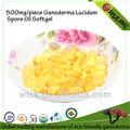 Reishi orgânica extrato de cogumelo esporos cápsula de óleo de