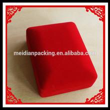Delicate custom red velvet necklace packing box