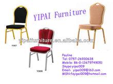 Hotel Furniture Aluminium PU Foam Steel Wedding Banquet Chairs (YC606)