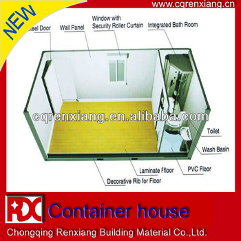 RX High Insulation Residential Modular Prefab Container Dwelling For Sale