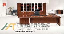 Melamine modern executive office desks with side table