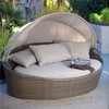 MYX13-19 Beach sun bed outdoor furniture round rattan daybed