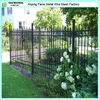 Garden powder coated steel fence with spear top(Anping factory)