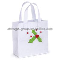 (GB-01B)Handmade felt Christmas gift bag,candy bag for hanging decoration