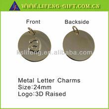 custom metal letter charms