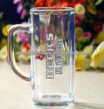 Cheap 1 Liter Glass Beer Stein