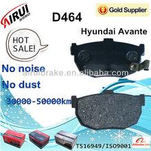 Hyundai Avante Brake Pad D464 auto parts