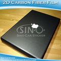 Excellente emballage décoration de voiture vinyle autocollant 2D en Fiber de carbone bande