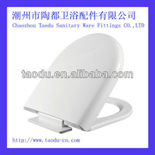 Bathroom accessory plastic toilet seat cover with soft close toilet seat hinges