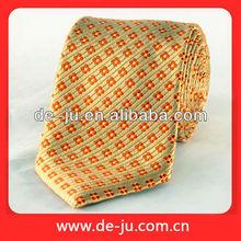Wholesale Dot Jacquard Yellow Fabric Cheap Print Silk Fabric Necktie
