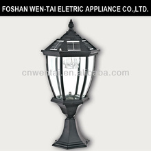 solar light pillar/solar post light/garden decorative light