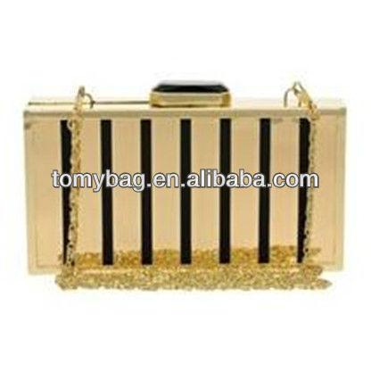 Gold metallic woman sunvela fashion design metal evening bag
