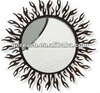 Round iron home decorative mirror frame with flame patterns