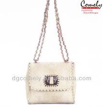 comely handbag 2015 latest fashion beige girls long strap small bag lady handbag fashion lady handbag