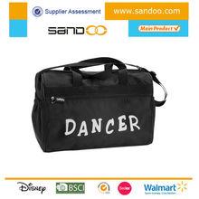 Fashional black girl dance duffle bag, travel dancing bag