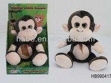 NEW monkey Stuffed plush repeating talking animal