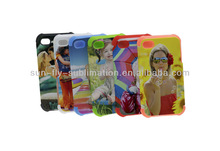 Phone Case for Iphone 5/5s; 3D Sublimation Phone Case; 3D Silicone Dual protect Case for iPhone 5/5s