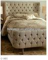 2014 mais recente de casal king size projetos da cama mobília do quarto