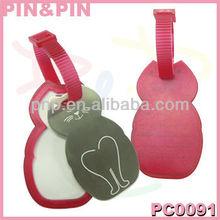 personalized pvc printing logo custom luggage tag