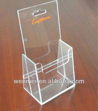 Clear acrylic A4 magazine/leaflet/catalogue display rack(S-OH-002)