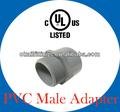 la lista de ul pvc adaptadores macho