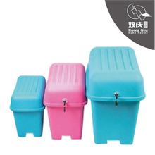 plastic bedroom small storage box stool with storage box