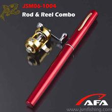 Pen Size Case Mini Portable Pocket Fishing Rod & Reel Set