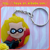 Promotional soft PVC 3D keychain / Plastic keyring