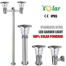 On sell JR-2602 4w solar panel led garden solar lights, IP65 outdoor led solar garden lights