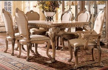 2014 new design classic European style carved dining furniture,dining table with chairs,formal dining room sets