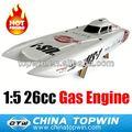 Barco do rc, 26cc gás motor de barco, rc nitro cascos de barco