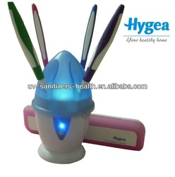 2014 Hot sale Family HH10 tested by SGS hold 5 toothbrushes 99.9% bacteria emilated Countertop Design UV toothbrush sanitizer