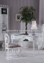 Otel mobilya/zarif yazı masası/kullanılan resepsiyon salonu resepsiyon ve sandalye/klasik masif ahşap yazı masası mg-9714