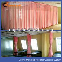 Hospital rails para cortinas como sistema de cortina
