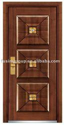 Italian Main Steel Latest Design Wooden Doors