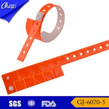 GJ-6070-5 Multi-tab vinyl football wristbands